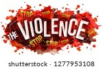 stop the violence. vector... | Shutterstock .eps vector #1277953108