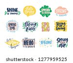 collection of spring slogans or ... | Shutterstock .eps vector #1277959525