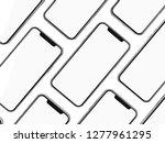 modern smartphone mockup... | Shutterstock . vector #1277961295