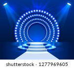 stage podium with lighting ... | Shutterstock .eps vector #1277969605