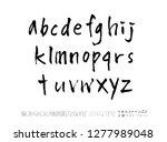 vector fonts   handwritten... | Shutterstock .eps vector #1277989048