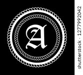 letter a logo concept.vintage...