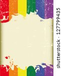 Grunge Gay Flag. A Poster With...