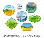 set of farm fields landscapes... | Shutterstock .eps vector #1277995102