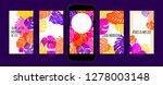 stories template design. tropic ... | Shutterstock .eps vector #1278003148