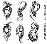 tribal tattoo | Shutterstock .eps vector #127800335