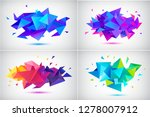 Vector Set Of Abstract Facet 3...