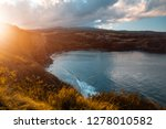 honolua bay at sunrise. maui ... | Shutterstock . vector #1278010582