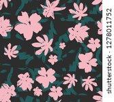abstract flowers design    Shutterstock .eps vector #1278011752