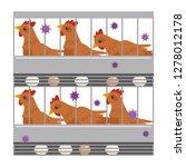 illustration of avian influenza | Shutterstock .eps vector #1278012178