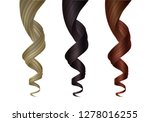 set of various colored wavy... | Shutterstock .eps vector #1278016255