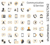 communication service icons | Shutterstock .eps vector #1278017242