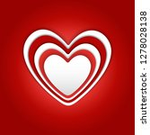 valentine's day background. 3d... | Shutterstock .eps vector #1278028138