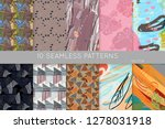 collection of seamless patterns.... | Shutterstock .eps vector #1278031918