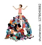 nothing to wear concept  young... | Shutterstock .eps vector #1278040882