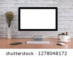 blank screen of all in one... | Shutterstock . vector #1278048172
