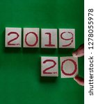 2020 new year concept. close up ... | Shutterstock . vector #1278055978