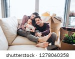 a portrait of young couple with ... | Shutterstock . vector #1278060358