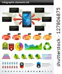 infographics collection vector... | Shutterstock .eps vector #127806875