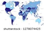 map of the world | Shutterstock .eps vector #1278074425
