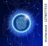 cyber security concept.... | Shutterstock .eps vector #1278077515