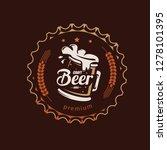 beer mug  stylized vector...   Shutterstock .eps vector #1278101395