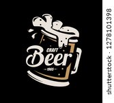 beer mug  stylized vector... | Shutterstock .eps vector #1278101398
