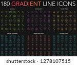 180 trendy gradient style thin... | Shutterstock .eps vector #1278107515