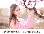 beautidul teen girl posing with ... | Shutterstock . vector #1278110152