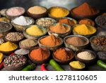 cookbook and various spices...   Shutterstock . vector #1278110605