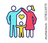 child protection color icon.... | Shutterstock .eps vector #1278113575