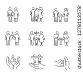 child custody linear icons set. ... | Shutterstock .eps vector #1278113578