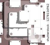 hand drawn seamless vector... | Shutterstock .eps vector #1278116962