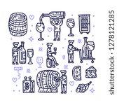 winemaker character collection. ... | Shutterstock .eps vector #1278121285