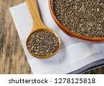 nutritious chia seeds in a... | Shutterstock . vector #1278125818