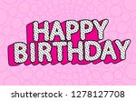 Happy Birthday Banner Text Wit...