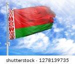 national flag of belarus on a... | Shutterstock . vector #1278139735