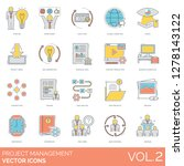 project management icons... | Shutterstock .eps vector #1278143122