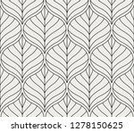 geometric floral vector... | Shutterstock .eps vector #1278150625