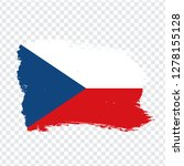 flag czech from brush strokes.  ...