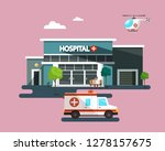 hospital building with... | Shutterstock .eps vector #1278157675