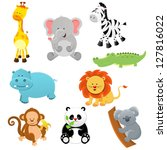 animal set | Shutterstock .eps vector #127816022
