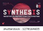 technology bold san serif... | Shutterstock .eps vector #1278164605
