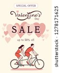 valentine's day sale offer ... | Shutterstock .eps vector #1278171625