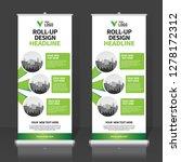 roll up banner design template  ... | Shutterstock .eps vector #1278172312