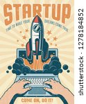 vintage startup poster with...   Shutterstock .eps vector #1278184852