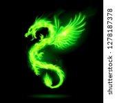 illustration of green fire... | Shutterstock .eps vector #1278187378