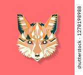 fox label design. abstract... | Shutterstock .eps vector #1278198988
