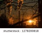 smoking factory chimneys.... | Shutterstock . vector #1278200818