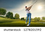 male golf player on... | Shutterstock . vector #1278201592